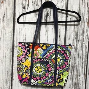 Vera Bradley Tote bag with leather handles